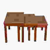 Set of 3 Danish Modern Nesting Tables in Teak