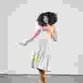 DAHLIA DRESS | stripe | size S