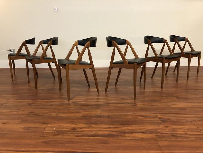 Kai Kristiansen Model 31 Dining Chairs Set of 6