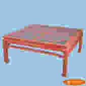 Ming Style Fretwork Orange Coffee Table