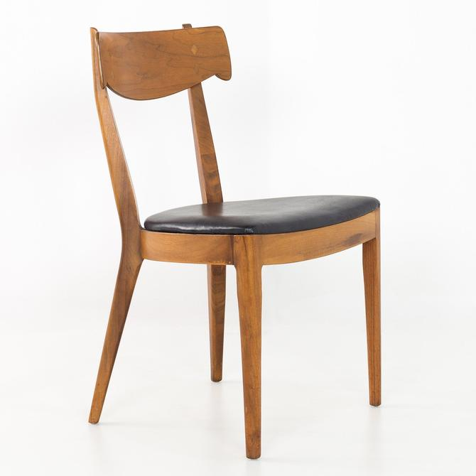 Italian Style Kipp Stewart for Drexel Declarations Mid Century Walnut Dining Chair - mcm by ModernHill