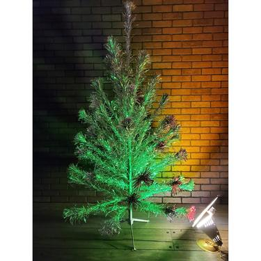 Aluminum 6 ft Christmas Tree with Spartus Color Wheel by RedsRustyRelics
