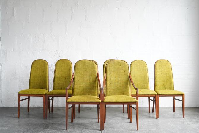 Milo Baughman Walnut Dining Chairs (Set of 8)