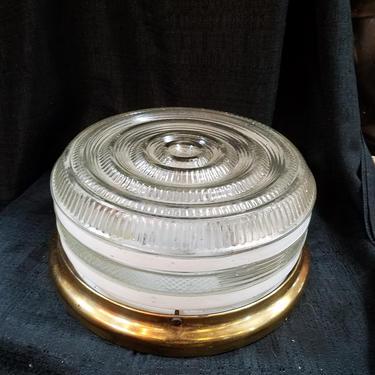 Vintage flush mount 11 (diam) x 5