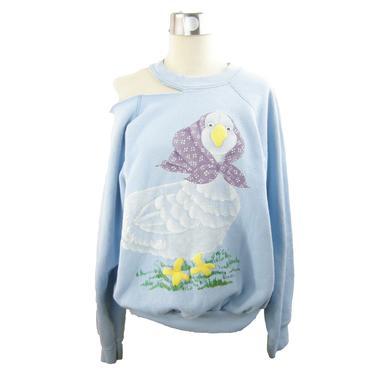 L\/S Blue Mother Goose Slash Sweatshirt