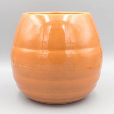 Bauer Pottery Pumpkin Orange Planter, Gloss Pastel Kitchenware GPK   Vintage California Pottery   Mid Century Modern Decor by MostlyMidCenturySF