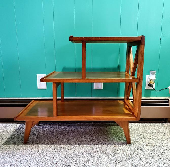 Mid Century Shelving Side Table by OrWaDesigns