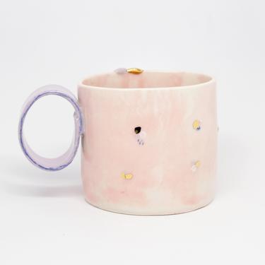 Handmade Porcelain Pink Mug, 12oz by fromfran