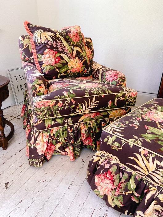 Faith Duke Design Chair and Ottoman