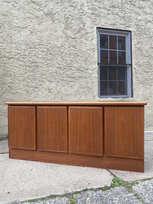 Mid century credenza Danish modern console cabinet teak server by VintaDelphia