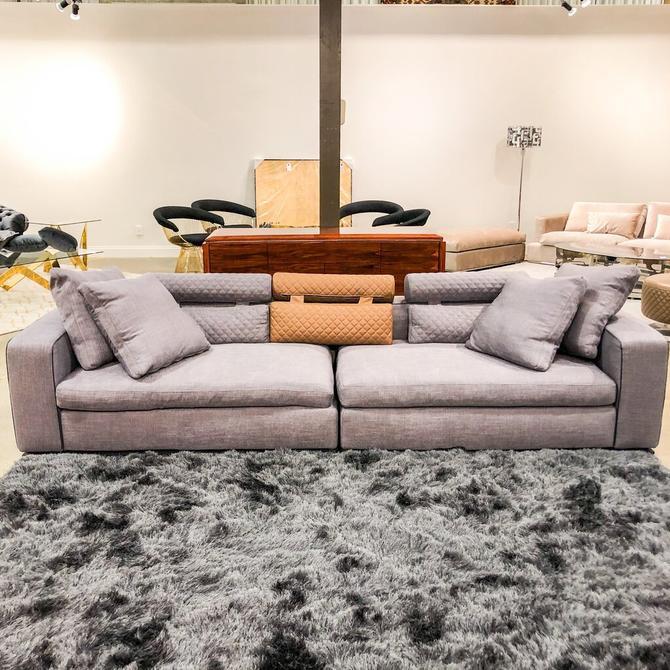 Purple Rectangular Sofa