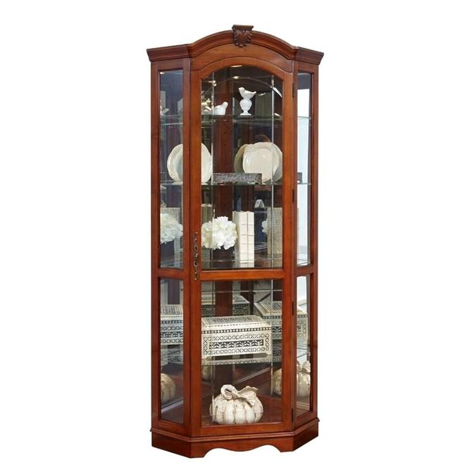 Darby Home Co Purvoche Lighted Curio Cabinet