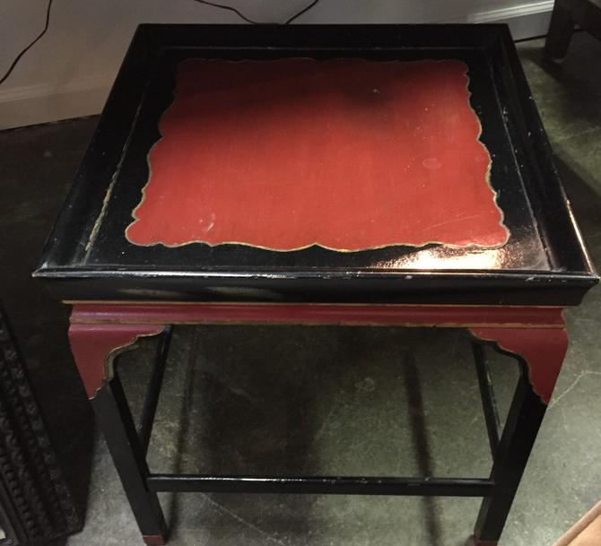 Occasional Vintage Asian Table Red/black