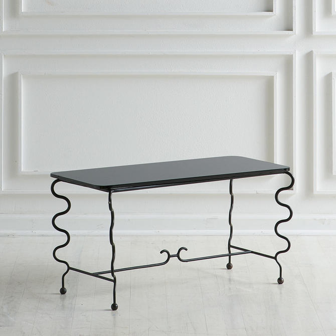 Royere Style Glass and Metal Coffee Table