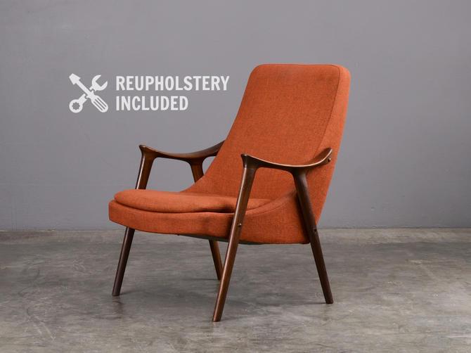 Vintage Scandinavian Lounge Chair Kornett Westnofa by MadsenModern
