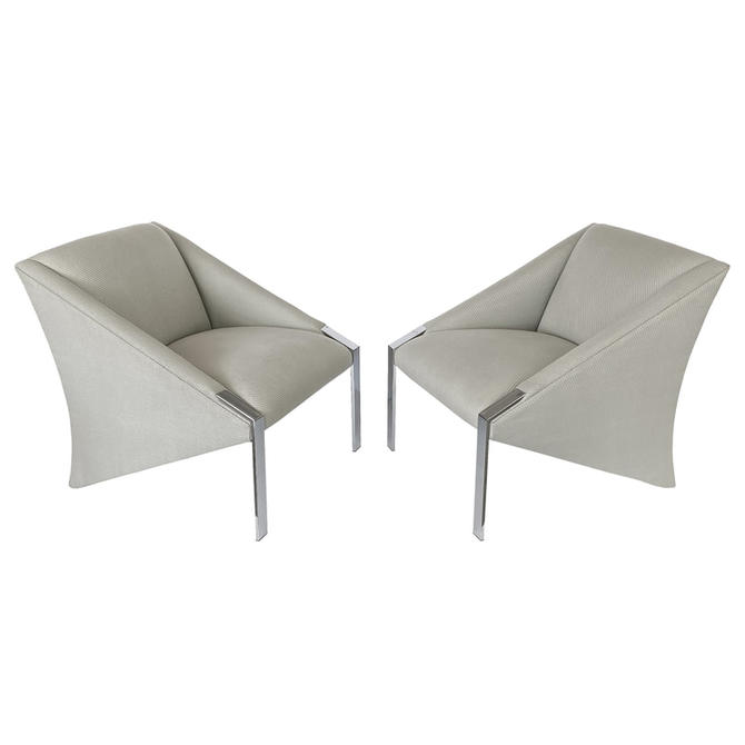 Pair Andree Putman Lounge Chairs