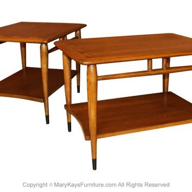 Mid Century Lane Acclaim Dovetail End Tables Pair by Marykaysfurniture