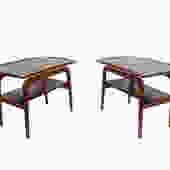 Arne Hovmand-Olsen Floating Teak Side Tables Danish Modern by HearthsideHome