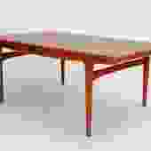 Danish Modern Dining Table with Leaves by Johannes Andersen for Uldum Møbelfabrik