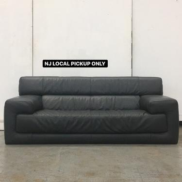 New Jersey LOCAL PICKUP ONLY ———— Vintage Leather Sofa by RetrospectVintage215