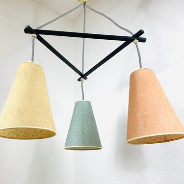 Extremley Rare 50s Ceiling Pendant Lamp Bag Lamp Mid Century by dadacat