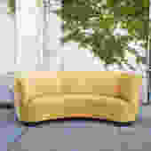 Vintage Art Deco Yellow Gold Reupholstered Sofa