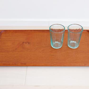 Danish Modern Viking Wood Solid Teak Rectangular Tray Made in Denmark by MidCentury55
