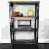 "The ""Paloma""  Bookshelf - Reclaimed Black Walnut + Steel by arcandtimber"