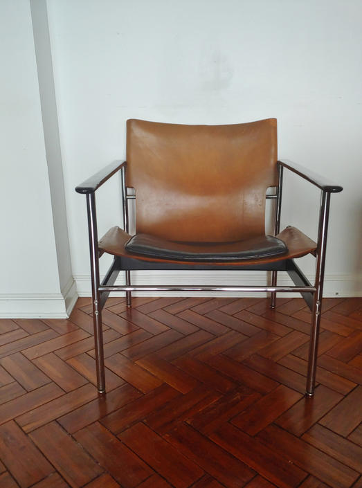 Vintage Charles Pollock Sling '657' Arm Chair for Knoll by ModandOzzie
