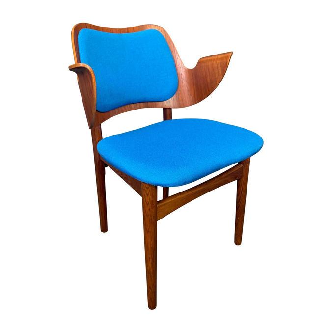 """Vintage Danish Mid-Century Modern Teak & Oak Side Chair """"Model 107"""" by Hans Olsen for Bramin Mobler by AymerickModern"""