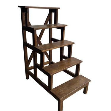 Wood Library Step Ladder, France, 1910