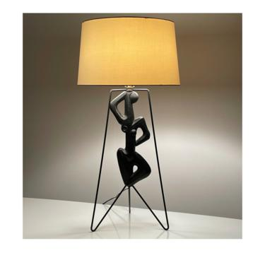 Rare Vintage Frederic Weinberg Figural Lamp 1950s by 20cModern