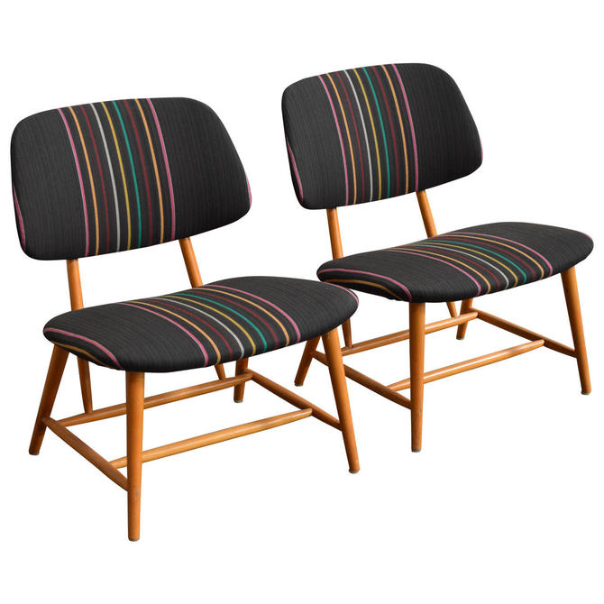 Mid-Century TV Chairs by Alf Svensson for Ljungs Industrier AB