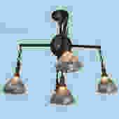 Brass Holophane Ceiling Light