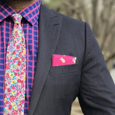 Pink Floral Tie Boyfriend Gift Men's Gift Anniversary Gift for Men Husband Gift Wedding Gift For Him Groomsmen Gift for Friend Gift Ideas by LookGreatWL