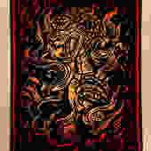 Burning Godzilla Block Print by WoodcutEmporium