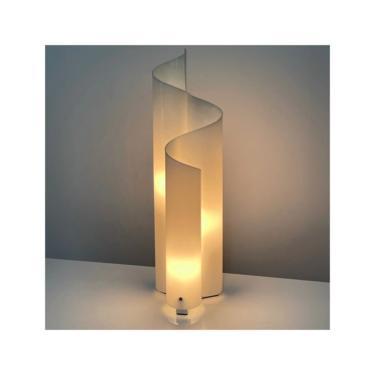 Vintage Vico Magistretti Artemide Mezzachimera Lucite Lamp 1970s by 20cModern