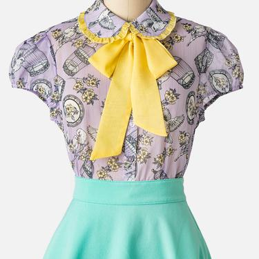 Hell Bunny Willow Sparrow Blouse (2 Colors Available)