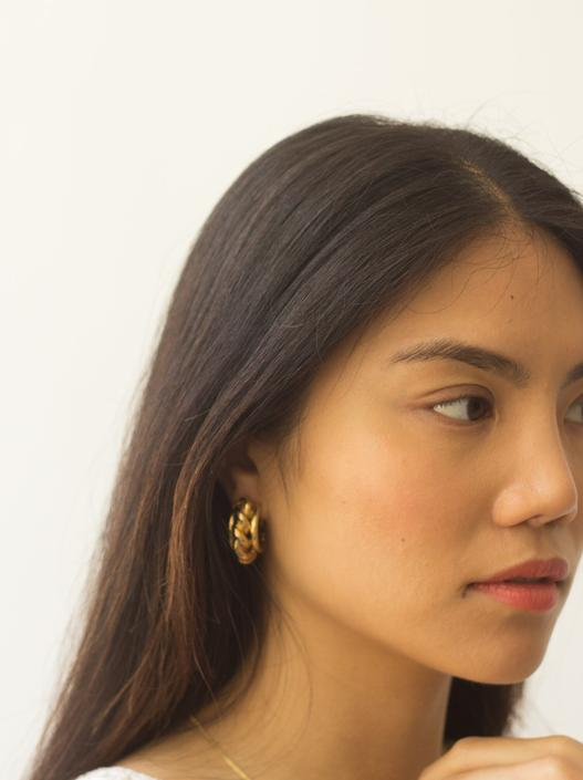 1980s Braided Gold Clips by waywardcollection