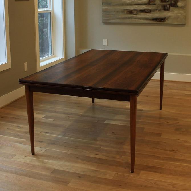 Niels O. Møller Danish Rosewood Expanding Dining Table