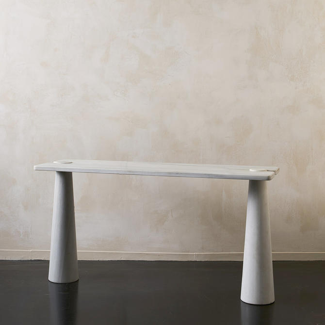 Marble Console in the Style of Angelo Mangiarotti
