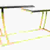 Leon Rosen for Pace Style Brass & Glass Console