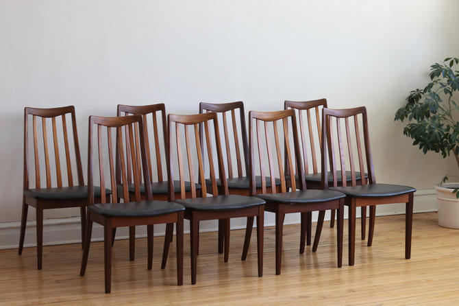 Set of 8 Mid Century Danish Modern Teak G-Plan Dining Chairs by SharkGravy