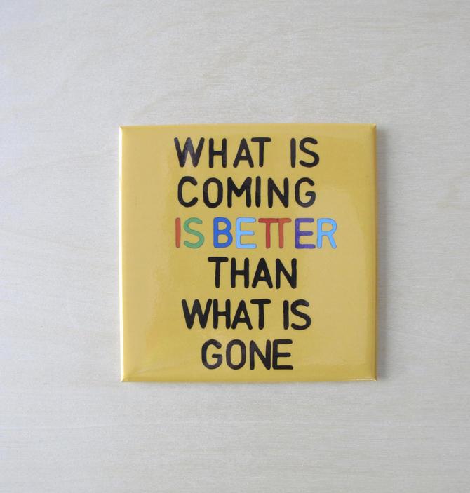 fridge magnet   Good vibes   Positive Mantra by VioletredStudio