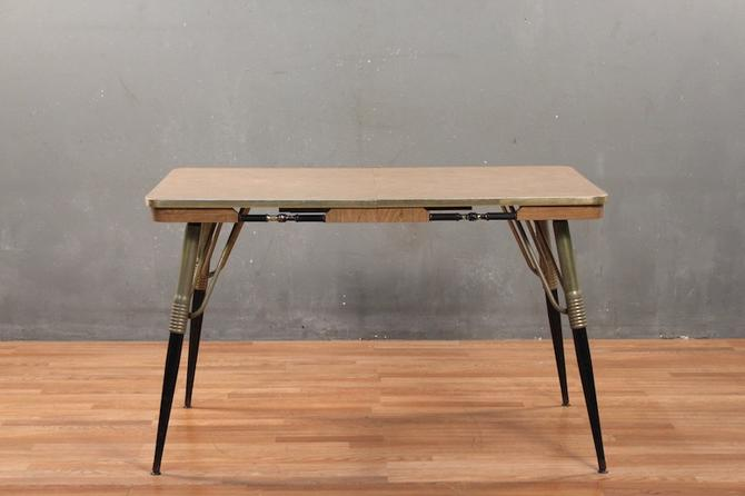 Retro Laminate & Coils Dining Table With Leaf – ONLINE ONLY
