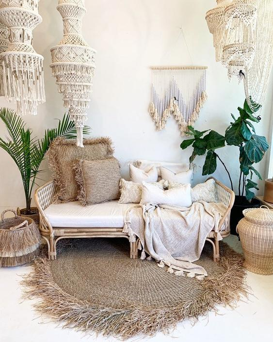 Preorder for Late October 2020 Arrival - Sunset Rattan Daybed Sofa by TheWickedBoheme