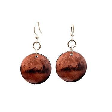 Mars Earrings #T095 by GreenTreeJewelry