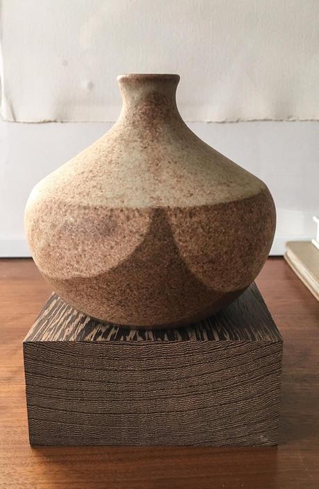 Earthy Sphere Weedpot Vase Studio Pottery Signed Art Vintage Mid Century Germany Earth Tones early krosselbach by CaribeCasualShop
