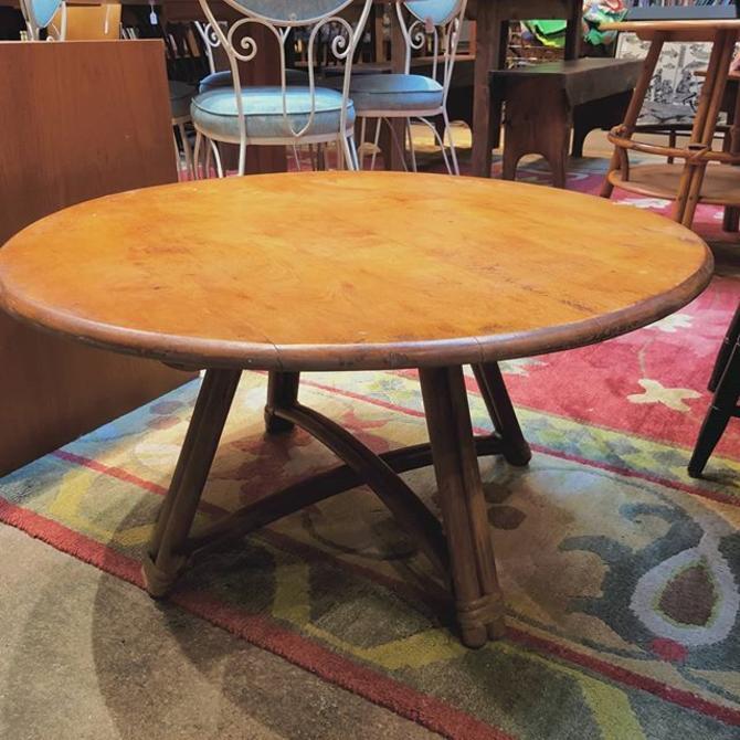 "Heywood Wakefield lazy Susan coffee table! 32"" across 17.5"" tall"