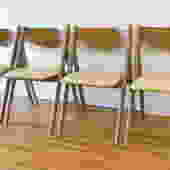 Mid Century Modern Set of Folding Chairs by Stakmore